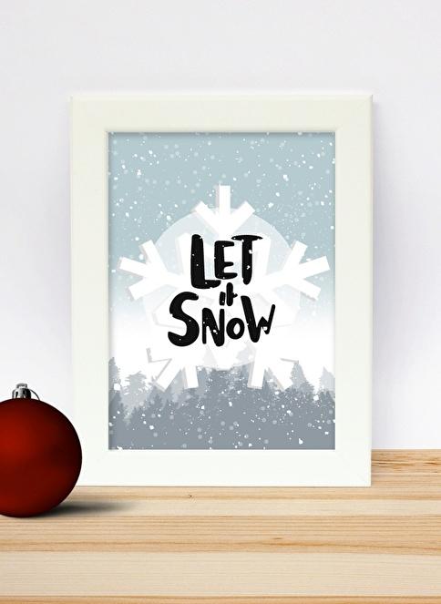 Decarthome Let it Snow Beyaz Çerçeve Beyaz